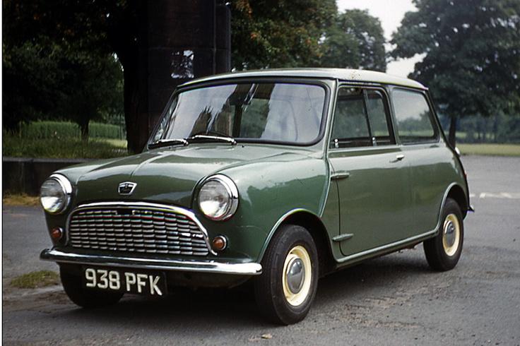 1963. Austin Mini in Almond Green.