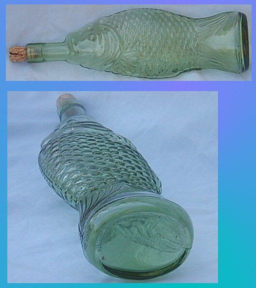 Pin by pat rn on beach house cottage decor pinterest for Fish wine bottle