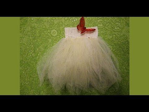 Юбка-пачка из резинки для волос и сетки