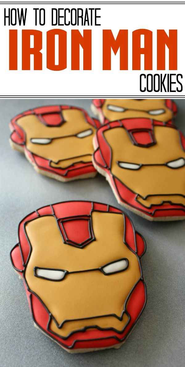 How to decorate Iron Man cookies with a projector (or not).