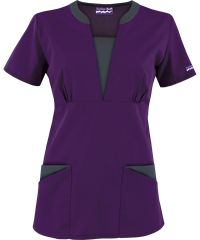 Butter-Soft Scrubs by UA Contrast V-Neck Scrub top, Style #  UA255C #scrubs,