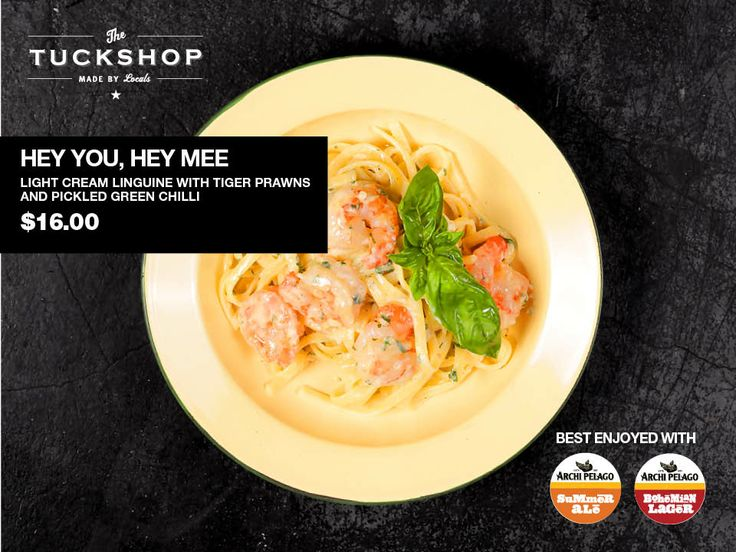 Hey You, Hey Mee Light Cream Linguine with Tiger Prawns & Pickled Green Chilli