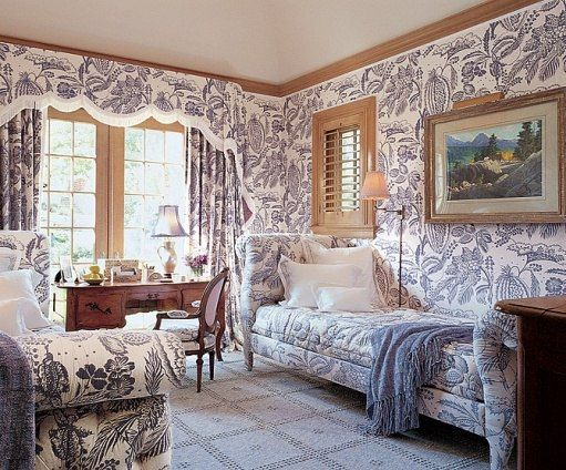 Bedroom Decorating Ideas Totally Toile: 123 Best Home - Toile Images On Pinterest