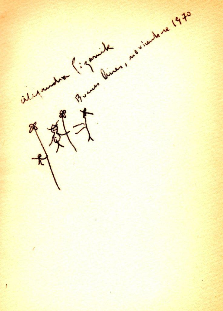 autografo de alejandra pizarnik 1º edicion extraccion de la piedra de la locura editorial sudamericana 1968