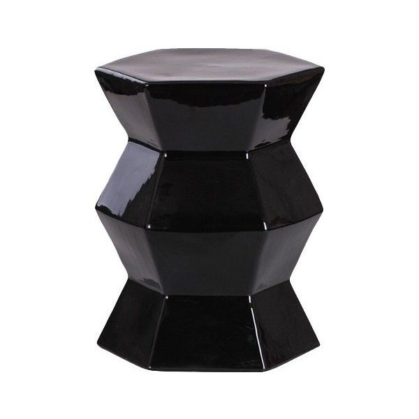 Azura Ceramic Garden Stool ❤ Liked On Polyvore Featuring Home, Outdoors,  Patio Furniture,