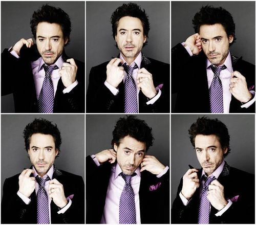 Robert Downey Jr. So much swag.