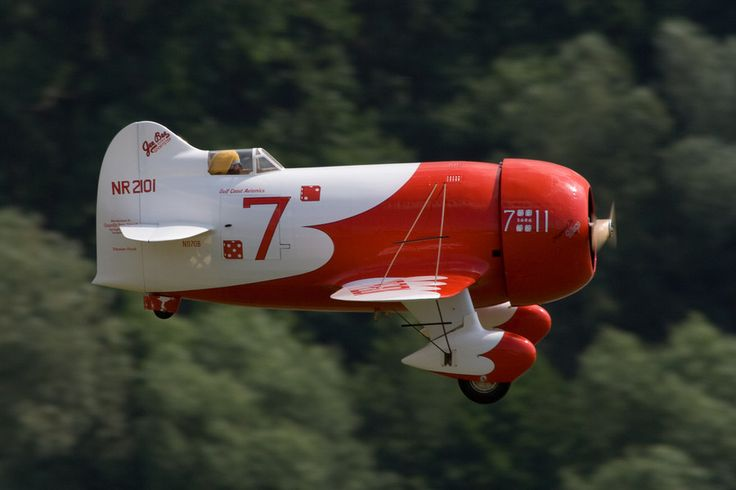 The Gee Bee Model R Super Sportster racing plane. Created by the Granville Brothers Aircraft Co in 1932.  Heh...goofy little death trap it was.