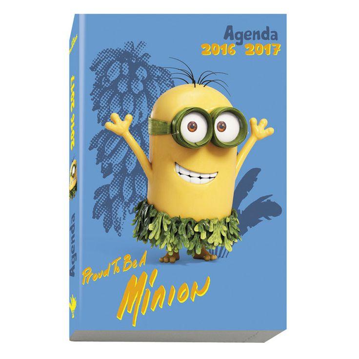 "Agenda Exacompta Agenda Les Minions ""Proud to be a Minion"" Agenda journalier 12 x 17 cm"