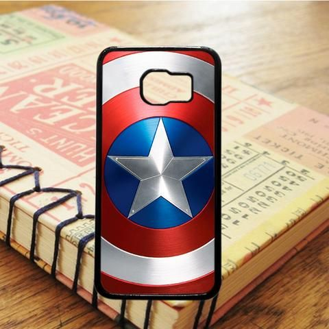 Captain America Shield Logo Superhero Samsung Galaxy S7 Edge Case