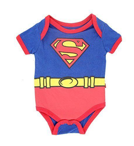 Superman Suit Blue Baby Onesie Romper
