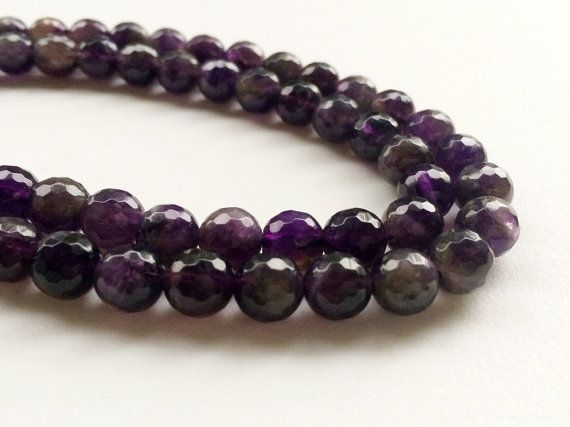 Amethyst Beads Amethyst Faceted Round Balls by gemsforjewels