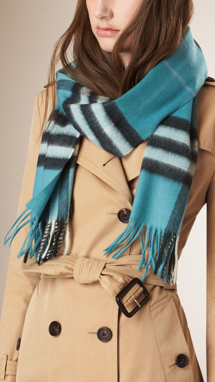 scarves for burberry teal blue and