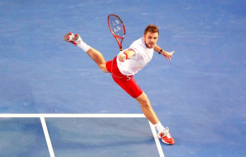 Stanislas Wawrinka at Australian Open 2014. #Wawrinka #AusOpen #Tennis