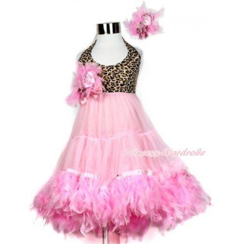 Princess wardrobe, Roze Luipaard halter jurk