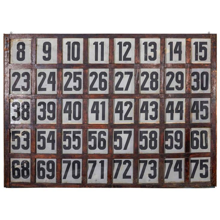 Vintage American BINGO Call Board
