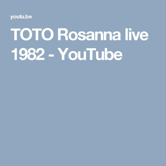 TOTO Rosanna live 1982 - YouTube