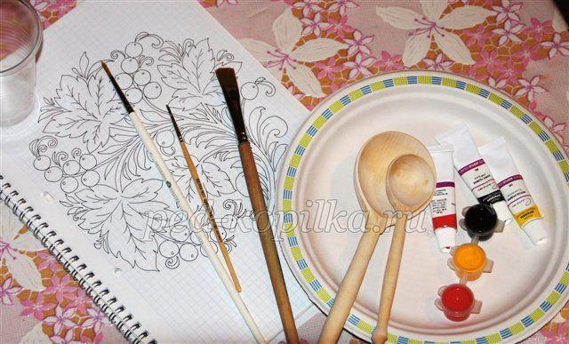 Хохлома. Роспись тарелки. Мастер-класс