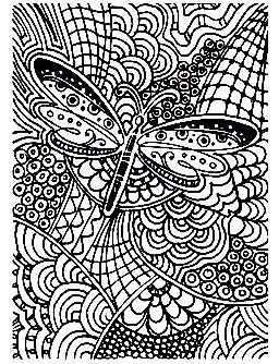 Free Coloring Page Coloring Adult Difficult Butterfly 15 Coloring