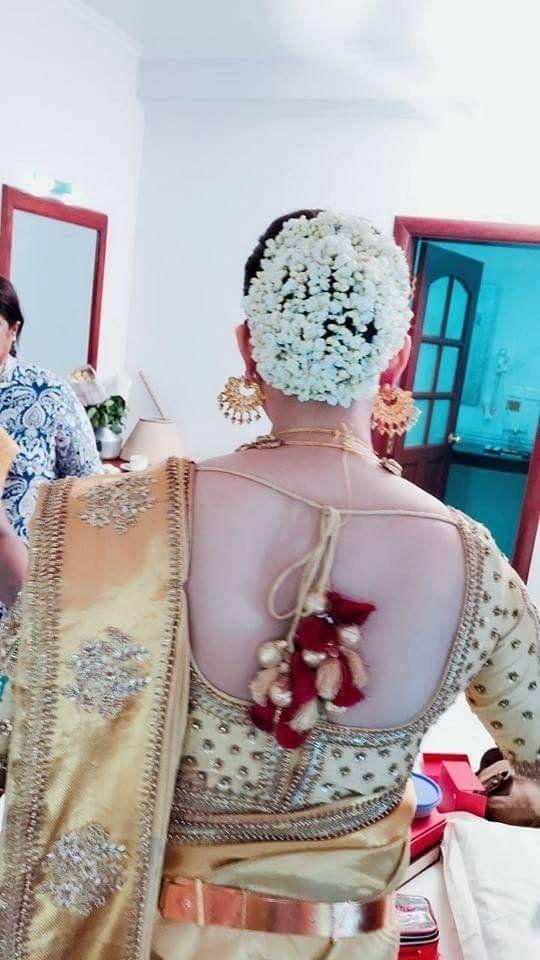 Bhavana Wedding Pics Blousedesigns Back Side Hairstyles