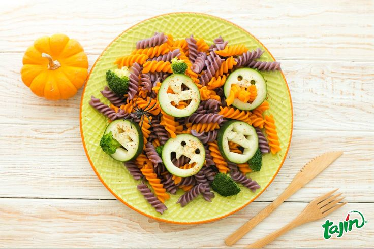 Veggie pasta ideal for your kids meal this Halloween