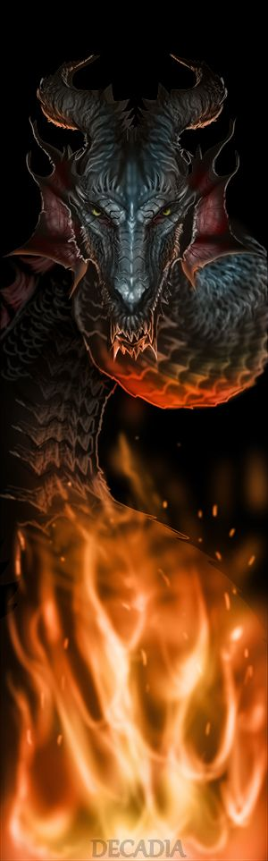 This dragon is wonderful. Firing Up the Spirit by *Decadia on deviantART