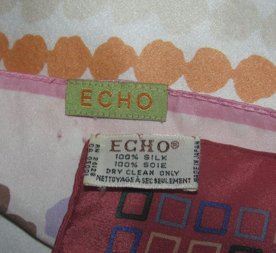 2 Two Pack Echo Silk Scarves Lot of 2 by princessjainascloset