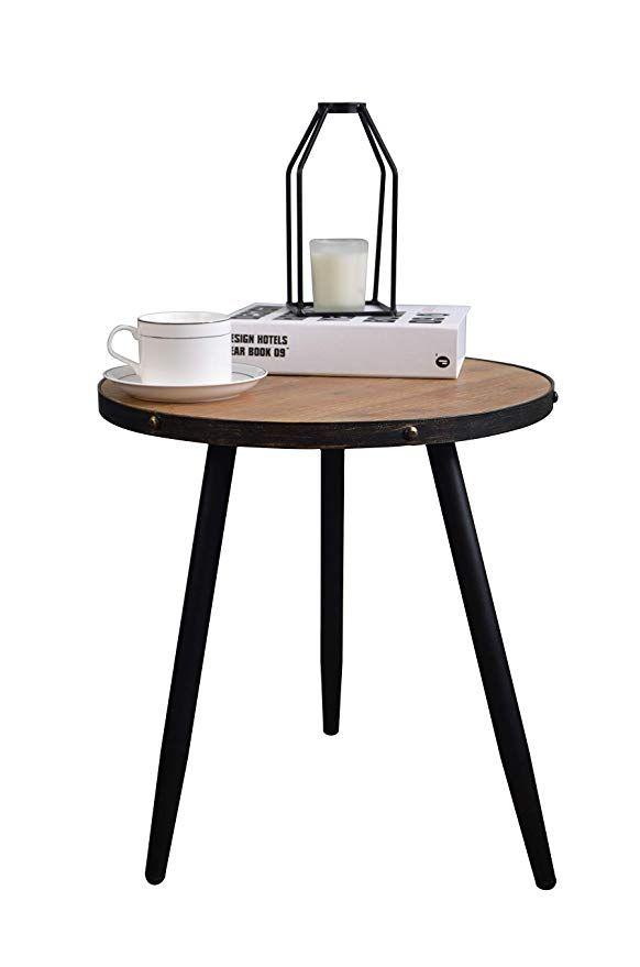 Amazon Com Aojezor Wood Side Table Small Sofa Bedside Table