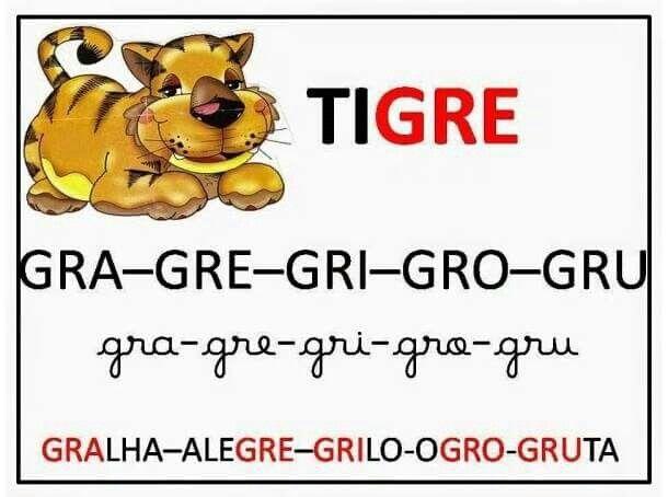 Silabas complexas | Leitura silabicas e palavras. Alfa ...