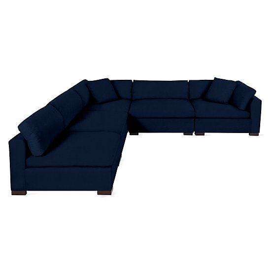 Naples Sectional 5 Pc Sectional Affordable Modern