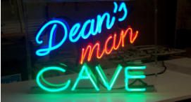 Dean's Man Cave Neon Sign