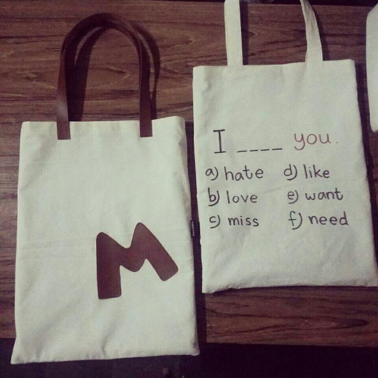 #handmadebag #totebag #words