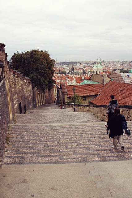 Castle Stairs, Prague, via Flickr.