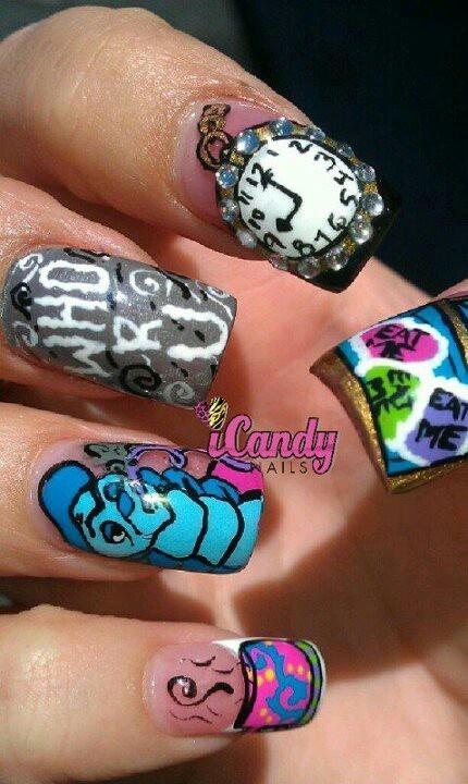 Icandy nails Alice in wonderland