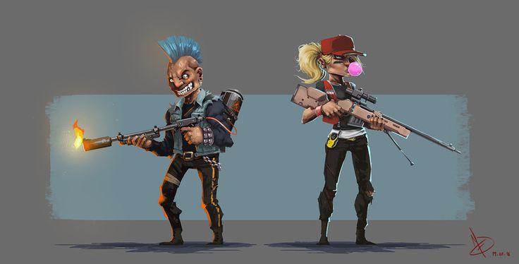Bad Guys by Ignacio Felechosa   Illustration   2D   CGSociety