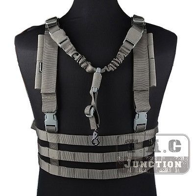 Emerson-Tactical-MOLLE-Chest-Rig-Lightweight-High-Speed-Vest-w-QD-Bungee-Sling