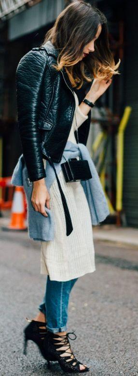 Amoureuse De Mode Knit On Knit Fall Streetsyle Inspo: