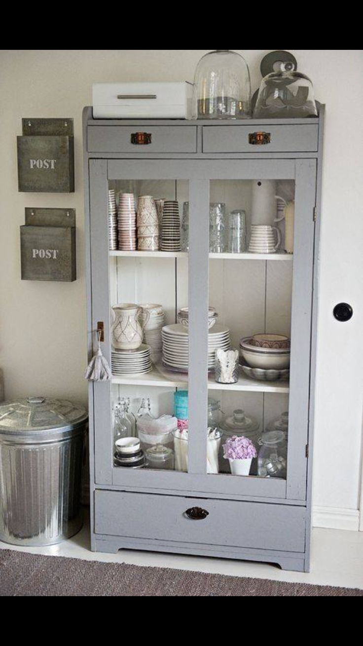Crown emulsion grey putty ruthin decor - Cupboard Love The Mail Bins On Wall Too