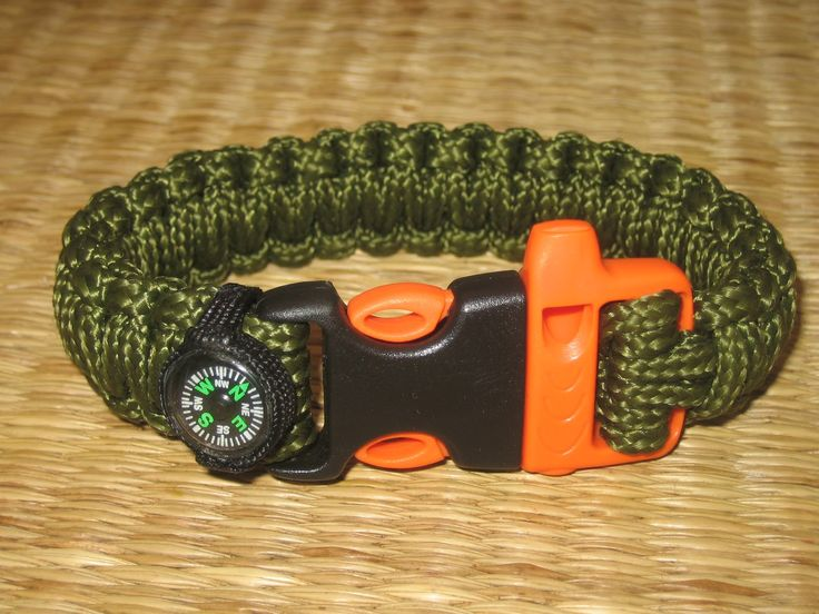 great survival paracord bracelet with whistle and compass