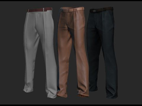 Male Suit Pants with Zbrush + Marvelous Designer (Time Lapse) - YouTube