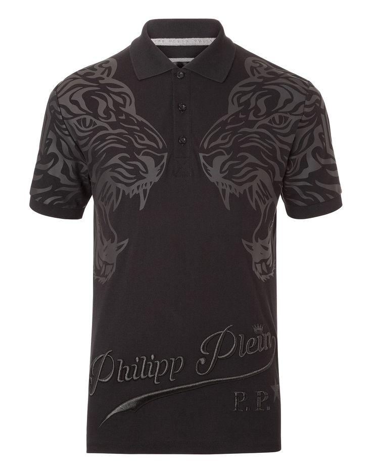 "PHILIPP PLEIN POLO SHIRT SS ""LOST"". #philippplein #cloth #"