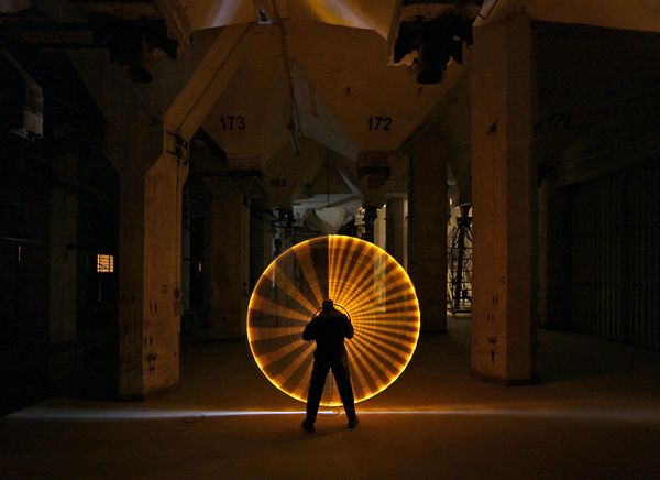 """Light Art Performance Photography or LAPP-PRO is a duo from Bremen, Germany. LAPP consists of a JanLeonardo Wallert and Jorg Miedza, who specialize in beautiful performance photography. The process is accompanied by music. This art is called """"Light Sculpture"""".    Source: http://www.beautifullife.info/urban-design/lapp-drawing-by-light/#ixzz1qfXCj55R"""