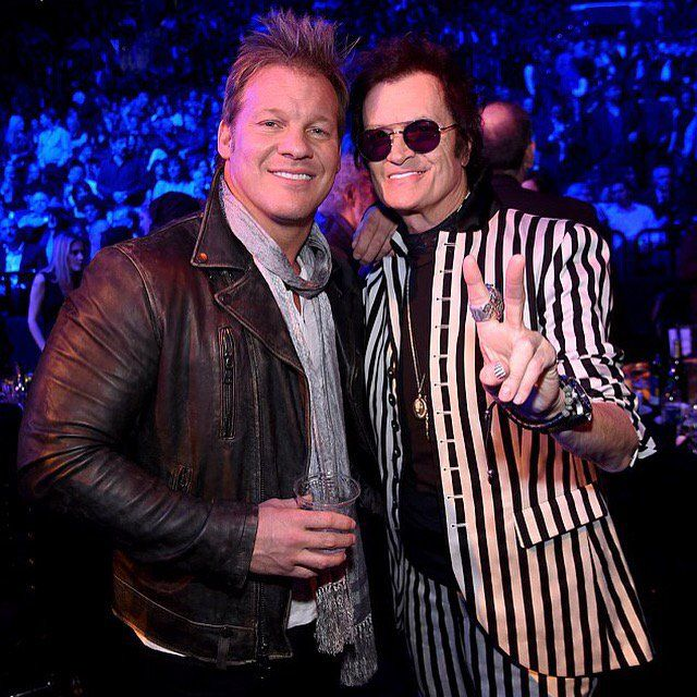 Yours truly and brother Chris Jericho ~ a gentleman, a badass & a Rocker in the ring & behind the mic.