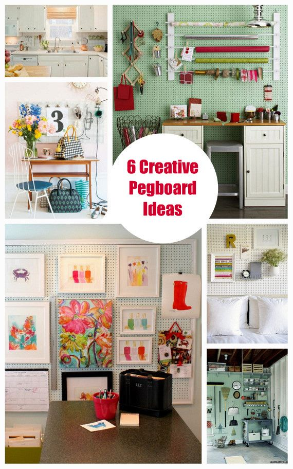 6 creative pegboard ideas organizing bright bold and