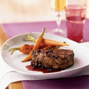 Filet Mignon with Red Currant-Green Peppercorn Sauce Recipe