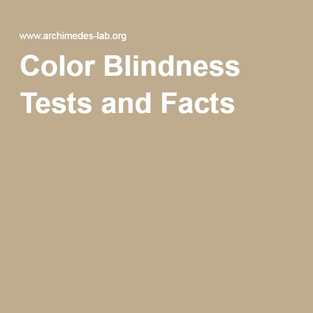 Color Blindness Tests and Facts the part about the army