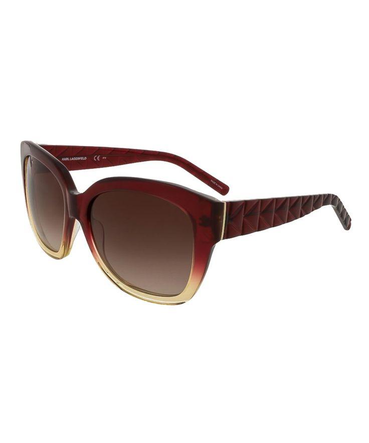 KARL LAGERFELD Kl866/S  052 Red Gradient Cat Eye Sunglasses'. #karllagerfeld #sunglasses