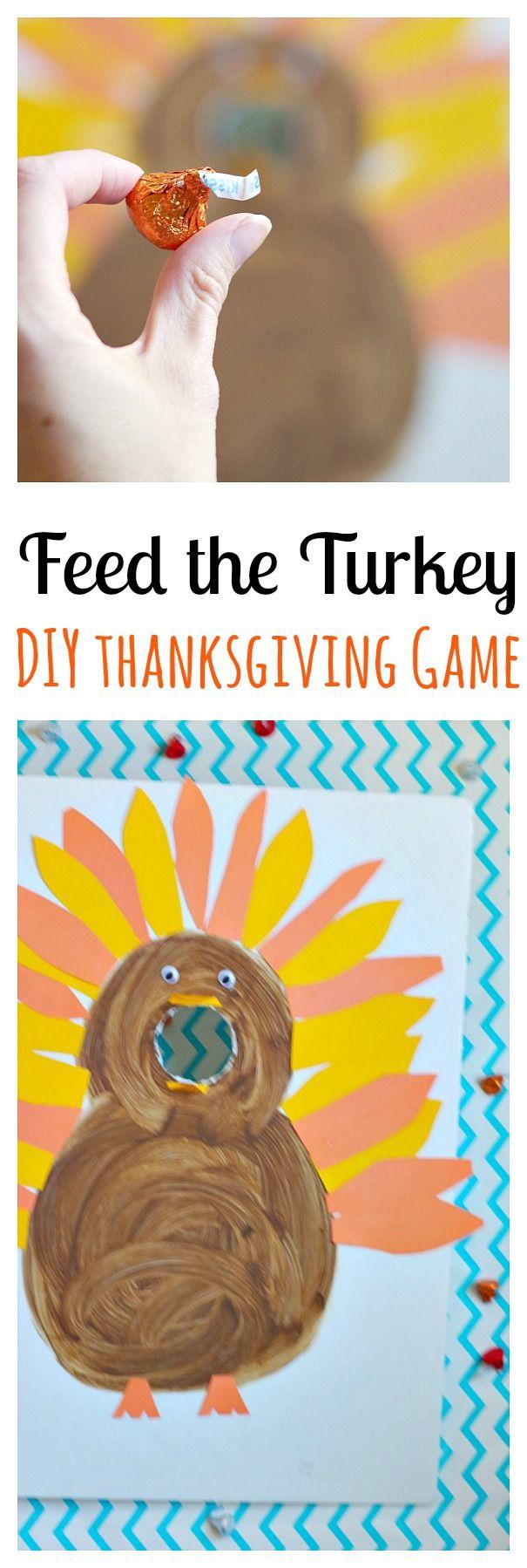 Feed the Turkey DIY Thanksgiving Game