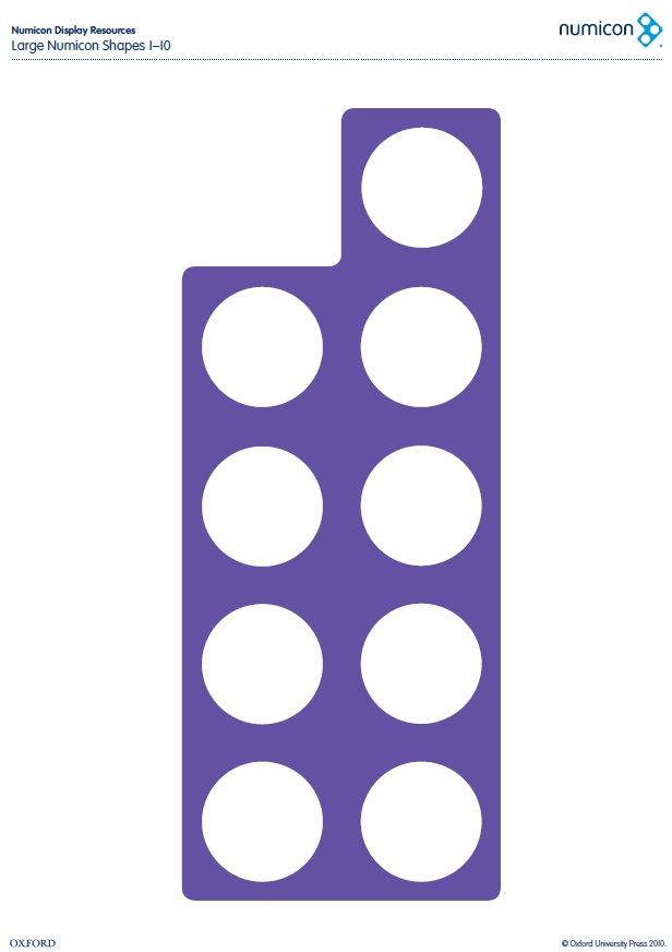 Download your free large Numicon shapes from 1-10 here. Find out more about…
