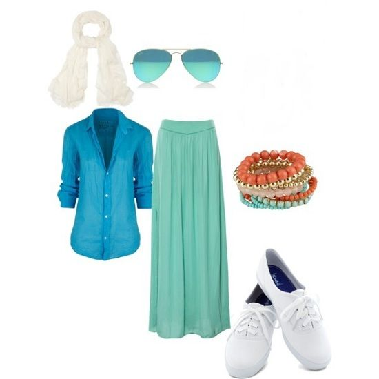 30 Summer Hijab Outfit Ideas and Combinations - Lovely colour combos! #Iminlove