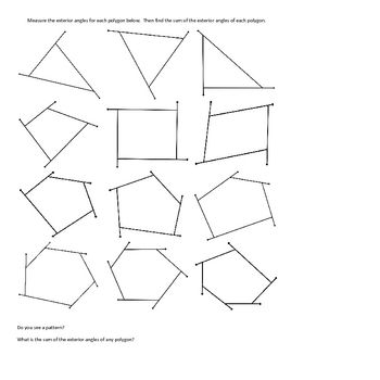 25 best ideas about exterior angles on pinterest - Find exterior angle of a polygon ...